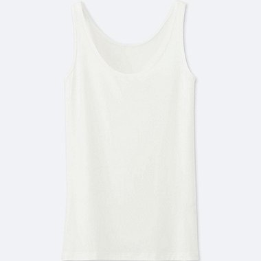 WOMEN AIRism SLEEVELESS TOP, WHITE, medium