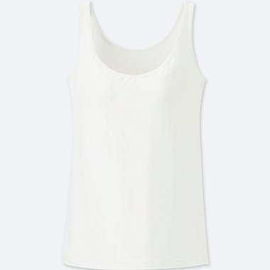 WOMEN AIRism BRA SLEEVELESS TOP, WHITE, medium