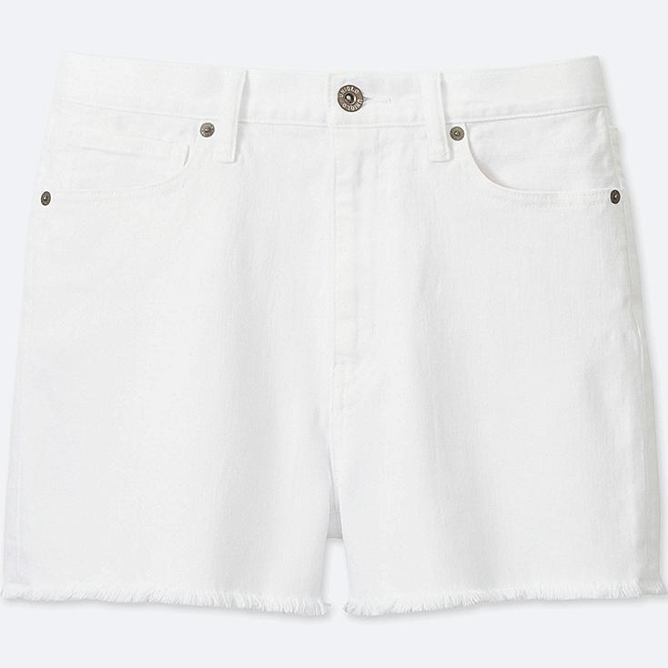 WOMEN HIGH RISE DENIM SHORTS | UNIQLO US