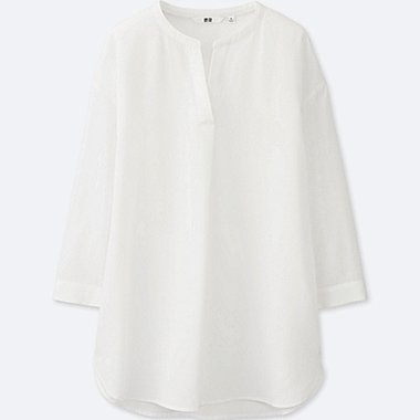 WOMEN Silk Touch Skipper Collar 3/4 Sleeve Blouse