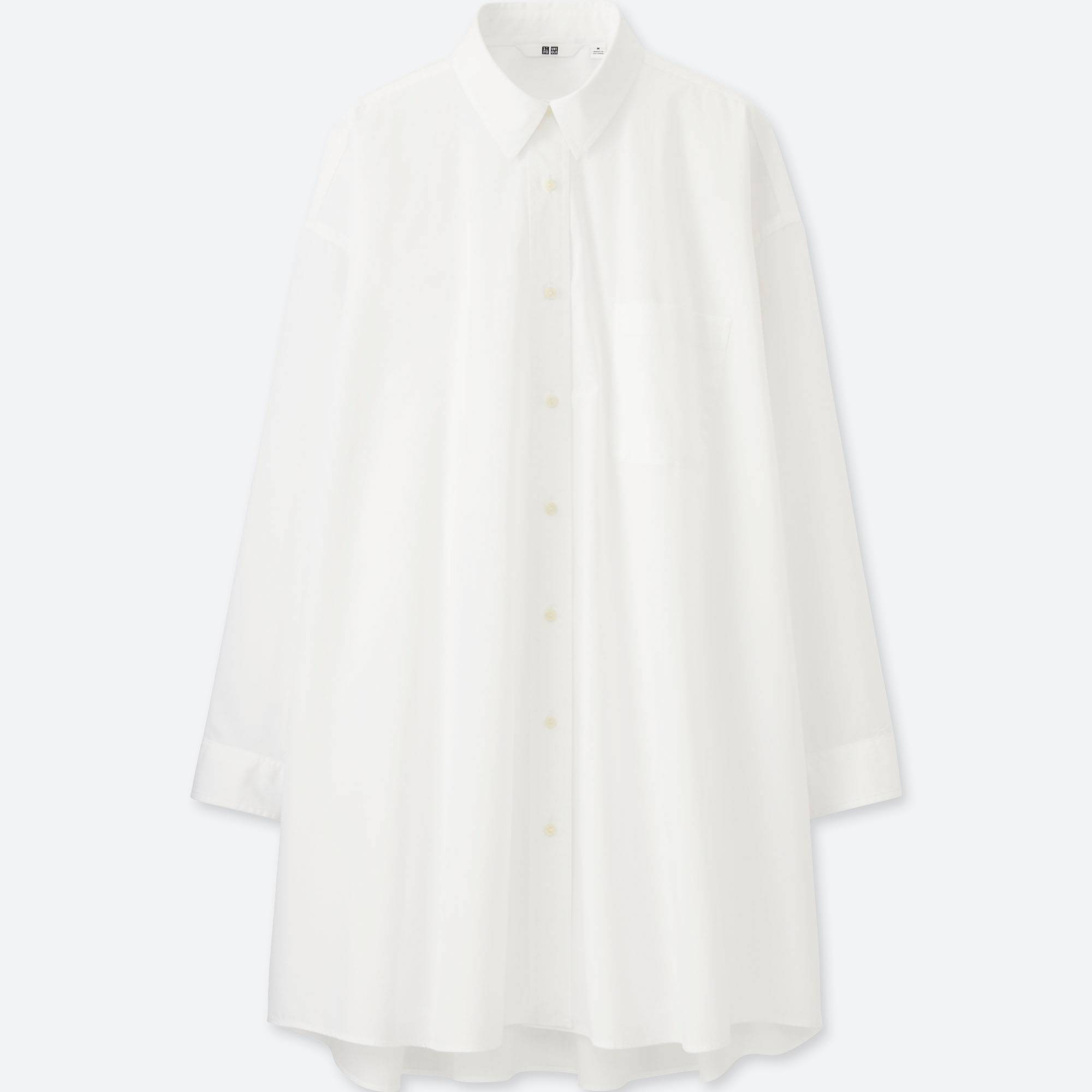 WOMEN EXTRA FINE COTTON OVERSIZED LONG SLEEVE LONG SHIRT | UNIQLO US