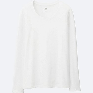 e8f58268 Women Supima® Cotton Crewneck Long Sleeve T-Shirt | UNIQLO US