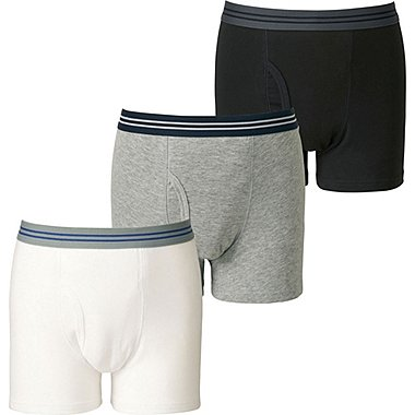 BOYS BOXER BRIEF 3P, WHITE, medium