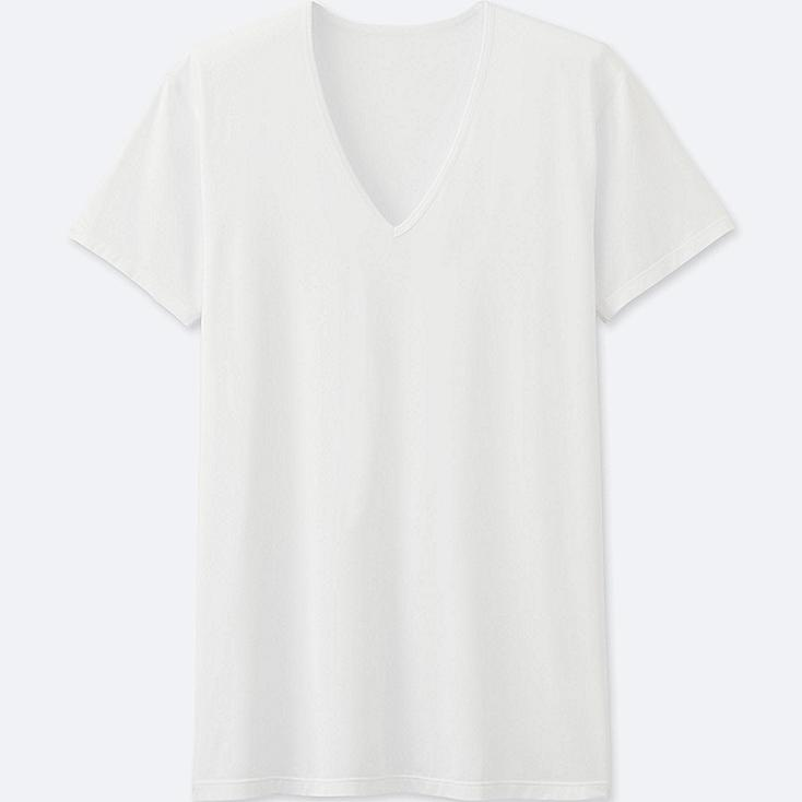 T-Shirt AIRism Col V Manches Courtes HOMME