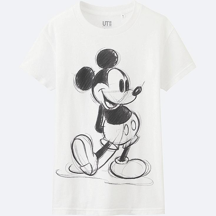 WOMEN DISNEY COLLECTION SHORT SLEEVE GRAPHIC T-SHIRT, WHITE, large