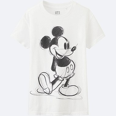 WOMEN DISNEY COLLECTION SHORT SLEEVE GRAPHIC T-SHIRT, WHITE, medium