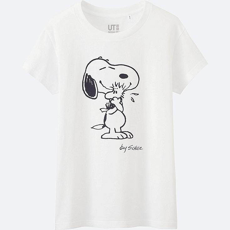 WOMEN Peanuts Short Sleeve Graphic T-Shirt