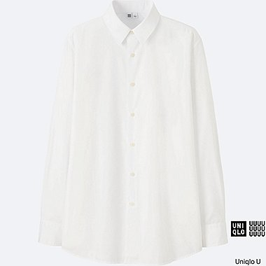 MEN Uniqlo U Extra Fine Cotton Broadcloth Long Sleeve Shirt