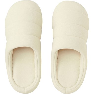 QUILTED ROOM SHOES, WHITE, medium