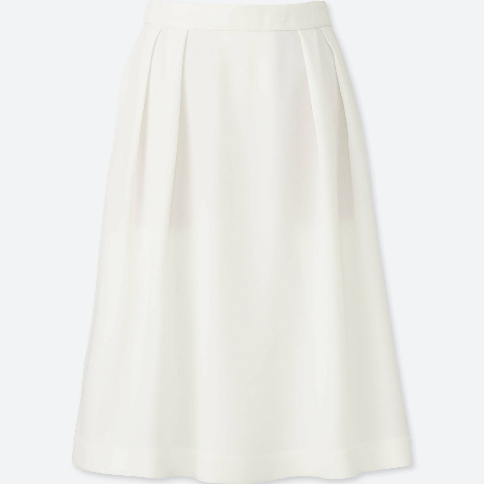 WOMEN HIGH WAIST CREPE TUCKED SKIRT | UNIQLO US
