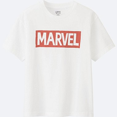 BOYS MARVEL COLLECTION SHORT SLEEVE GRAPHIC TEES, WHITE, medium
