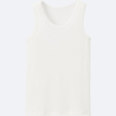 KIDS AIRism MESH TANK TOP, WHITE, medium