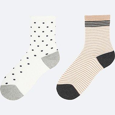 BOYS REGULAR SOCKS 2P, WHITE, medium
