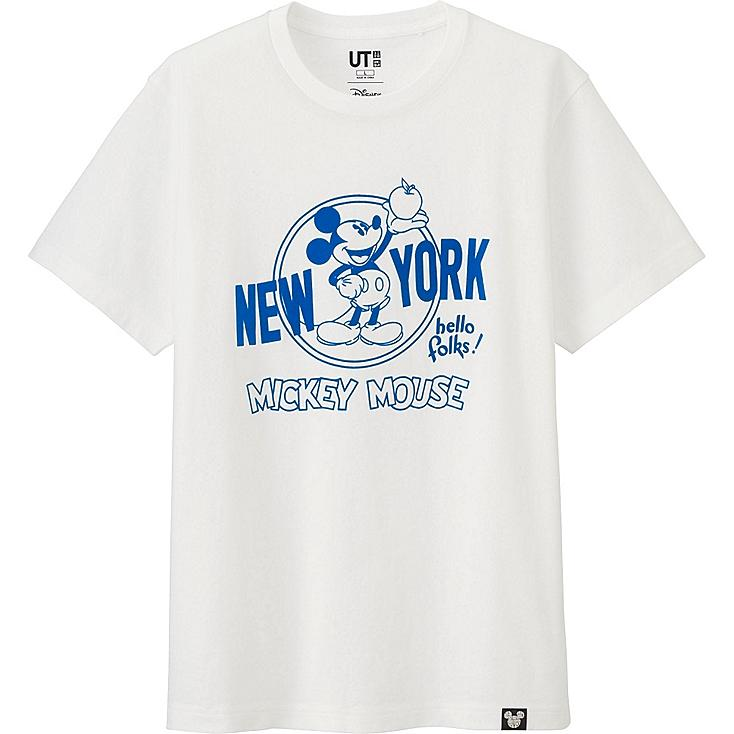 MEN DISNEY COLLECTION CITY LOGO GRAPHIC T-SHIRT, WHITE, large