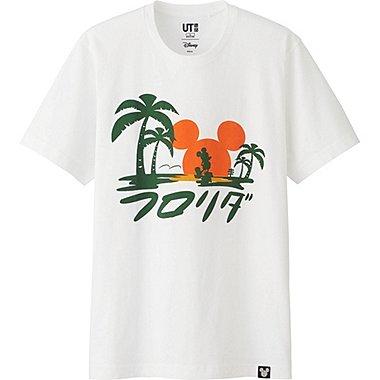 MEN DISNEY COLLECTION CITY LOGO GRAPHIC T-SHIRT, WHITE, medium