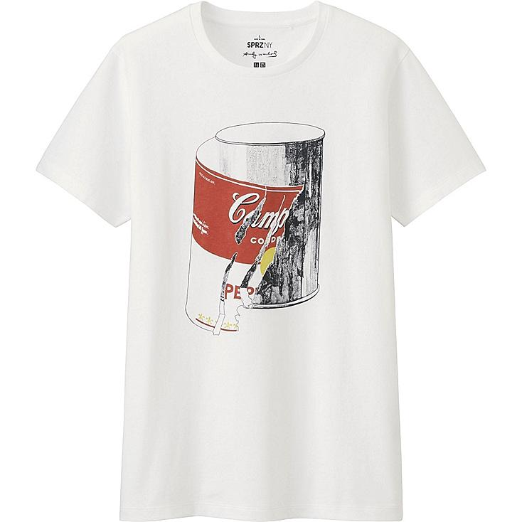 MEN SPRZ NY A.WARHOL SHORT SLEEVE GRAPHIC T-SHIRT, WHITE, large