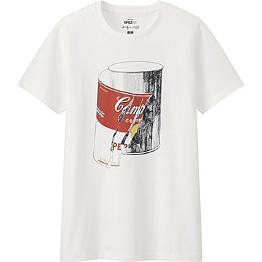 MEN SPRZ NY A.WARHOL SHORT SLEEVE GRAPHIC T-SHIRT, WHITE, medium