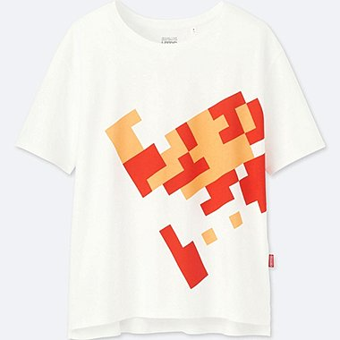 WOMEN UTGP (NINTENDO) SHORT-SLEEVE GRAPHIC T-SHIRT, WHITE, medium