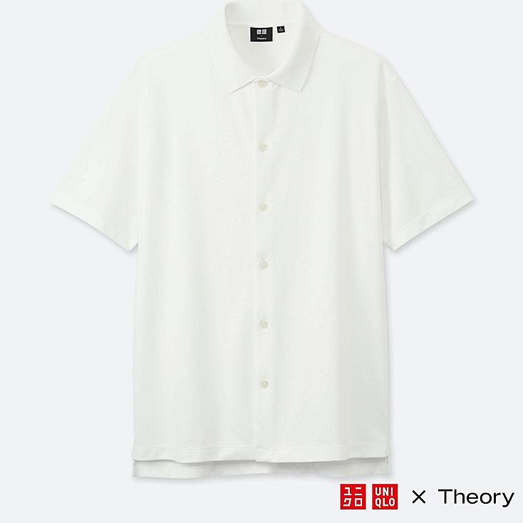 MEN THEORY X UNIQLO DRY COMFORT FULL OPEN POLO SHIRT