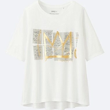 WOMEN SPRZ NY Short Sleeve Graphic T-Shirt (Jean-Michel Basquiat)