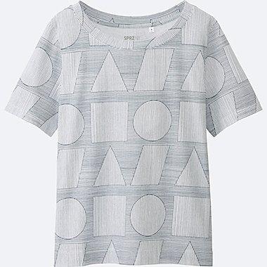 WOMEN SPRZ NY Super Geometric GRAPHIC T-SHIRT (SOL LEWITT), WHITE, medium