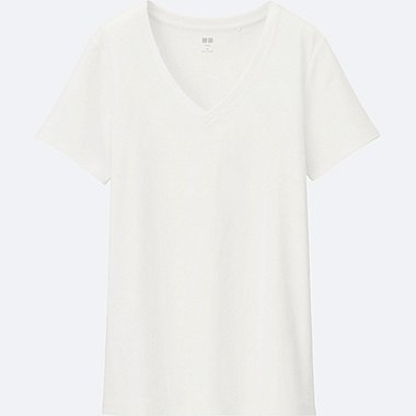 DAMEN Supima Cotton T-Shirt V-Ausschnitt
