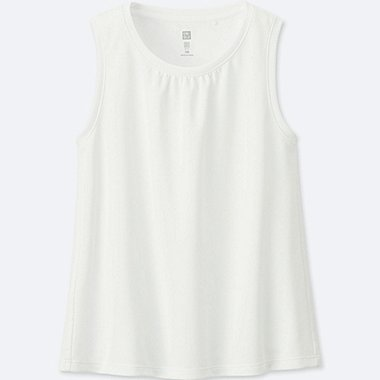 GIRLS DRY-EX TANK TOP, WHITE, medium