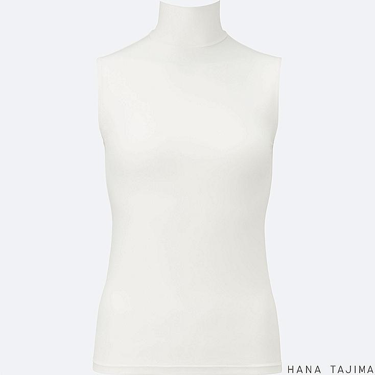 WOMEN HANA TAJIMA AIRISM HIGH NECK SLEEVELESS T-SHIRT
