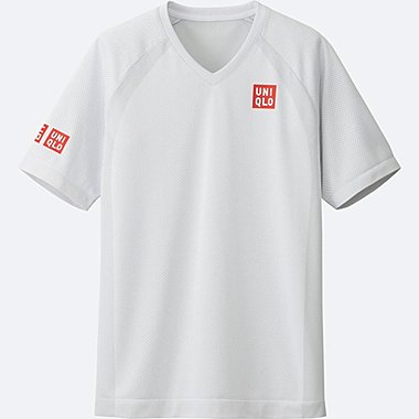 MEN NK DRY-EX SHORT SLEEVE T-SHIRT 17AUS, WHITE, medium