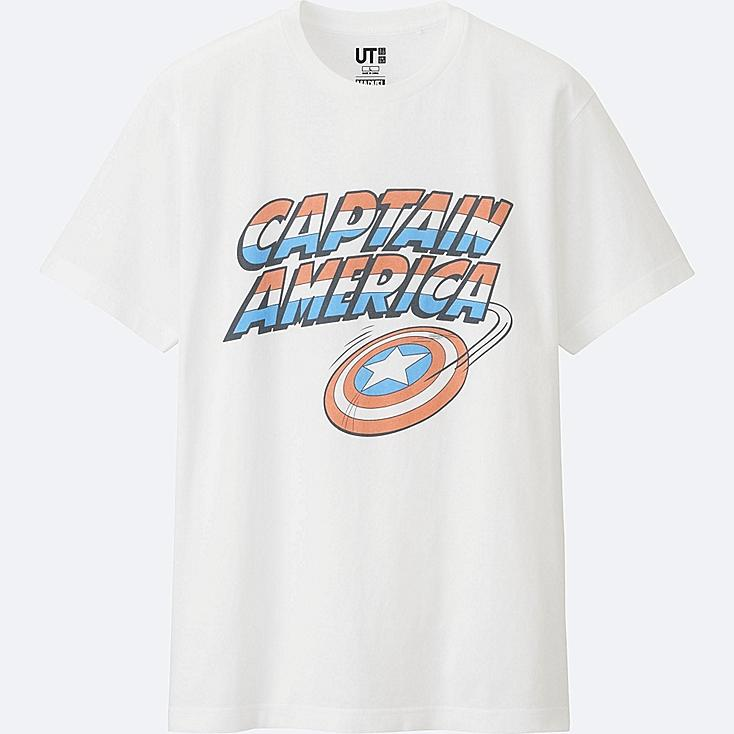 MEN MARVEL COLLECTION SHORT SLEEVE GRAPHIC T-SHIRT, WHITE, large