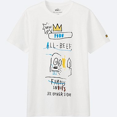 MEN SPRZ NY SHORT SLEEVE GRAPHIC T (JEAN-MICHEL BASQUIAT), WHITE, medium