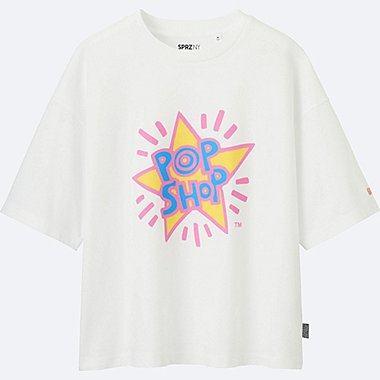 WOMEN SPRZ SHORT SLEEVE GRAPHIC T-SHIRT (KEITH HARING), WHITE, medium