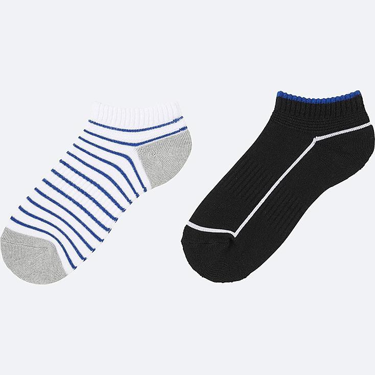 BOYS SHORT SOCKS 2P, WHITE, large