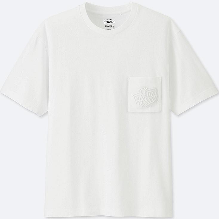 MEN SPRZ NY SHORT SLEEVE GRAPHIC T-SHIRT (KEITH HARING), WHITE, large