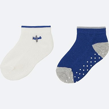 BABY SHORT SOCKS 2P, WHITE, medium