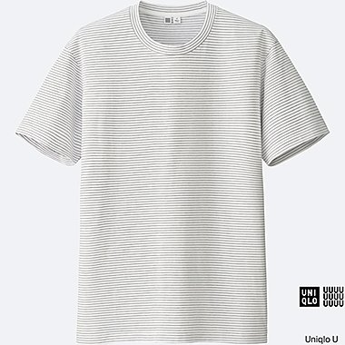MEN Uniqlo U Supima Cotton Striped Short Sleeve Tee