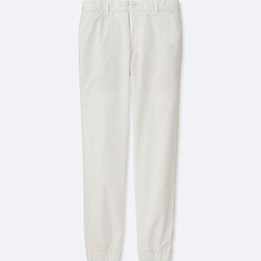 MEN JOGGER PANTS (COTTON), WHITE, medium