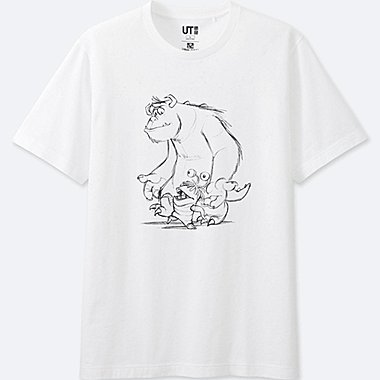 MEN REFLECTIVE PRINT (PIXAR) GRAPHIC T-SHIRT, WHITE, medium