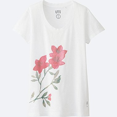 WOMEN HAIBARA Short Sleeve Graphic T-Shirt