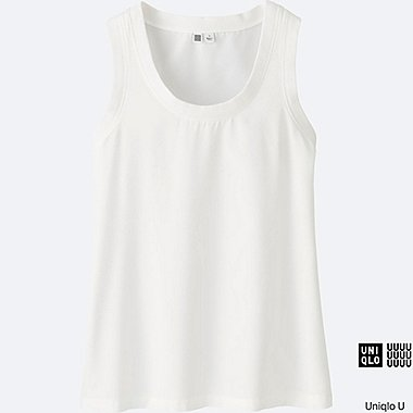 WOMEN Uniqlo U Easy Care Silk Touch Sleeveless Blouse