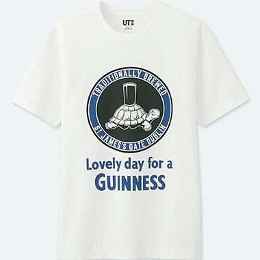 MEN THE BRANDS SHORT-SLEEVE GRAPHIC T-SHIRT (GUINNESS), WHITE, medium