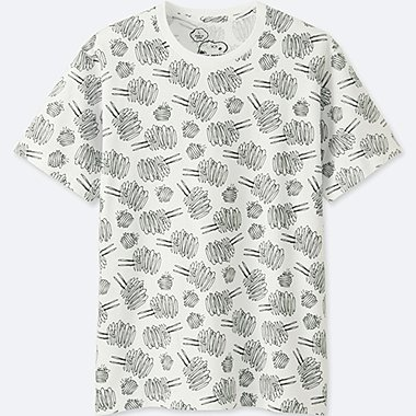 MEN KAWS X PEANUTS SHORT-SLEEVE GRAPHIC T-SHIRT, WHITE, medium