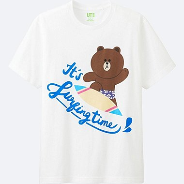 MEN LINE FRIENDS SHORT-SLEEVE GRAPHIC T-SHIRT, WHITE, medium