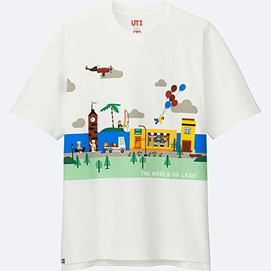 MEN LEGO® SHORT-SLEEVE GRAPHIC T-SHIRT, WHITE, medium