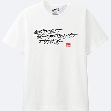 Expressionist FUTURA GRAPHIC T-SHIRT, WHITE, medium