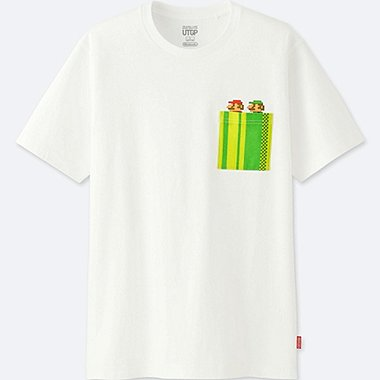 MEN UTGP (NINTENDO) SHORT-SLEEVE GRAPHIC T-SHIRT, WHITE, medium