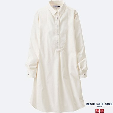 WOMEN INES Cotton Poplin Long Sleeve Tunic