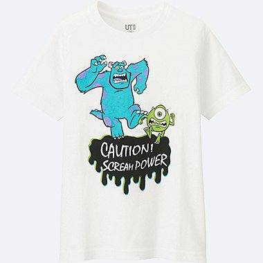 BOYS PIXAR SHORT SLEEVE GRAPHIC TEES, WHITE, medium