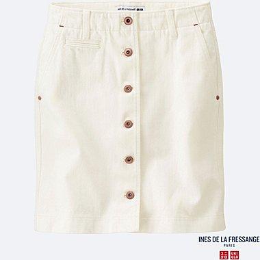 WOMEN INES Denim Mini Skirt