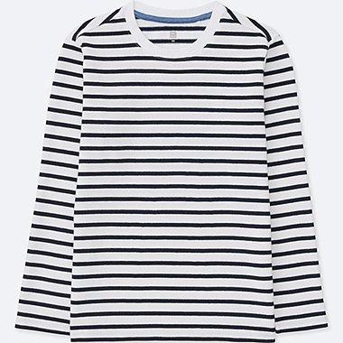 T-Shirt Rayé Col Rond Manches Longues GARÇON